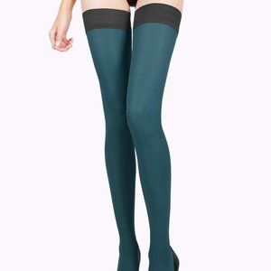 Emerald Green Tights Thigh High Stockings